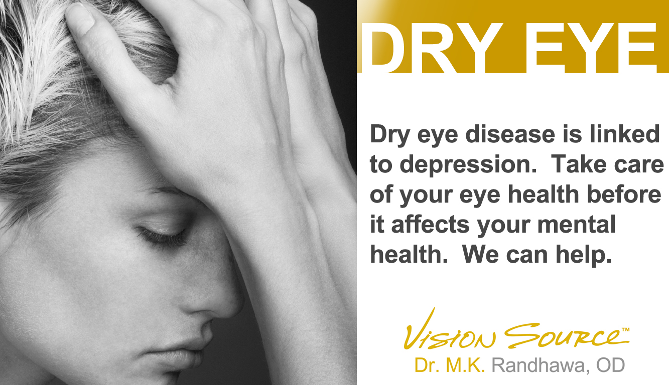 Dry eye is linked to depression
