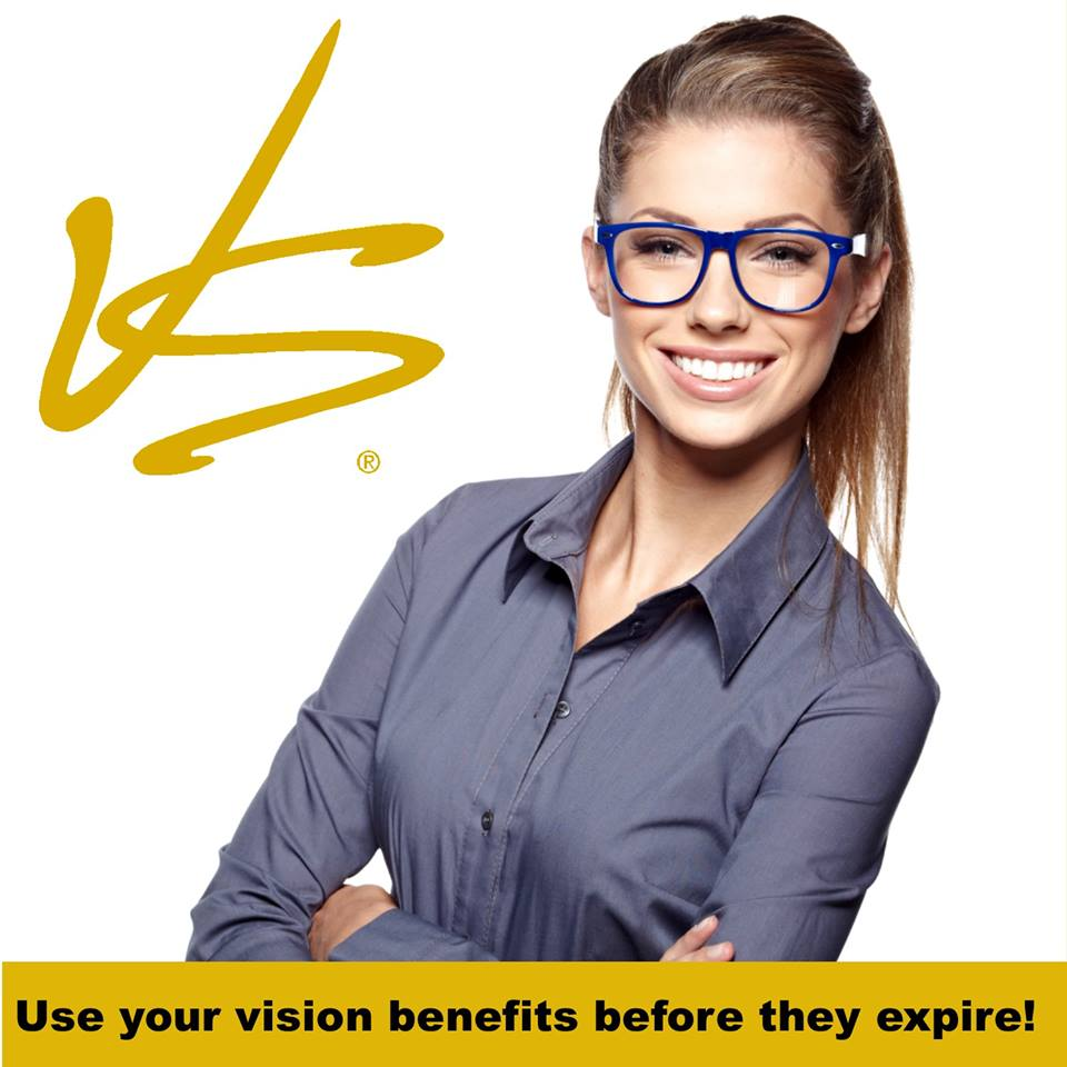 Use your vision insurance benefits before they expire